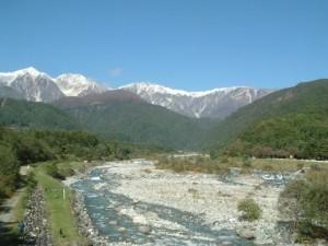 松川より白馬三山